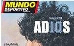 OMundo Deportivo, também espanhol, colocou em sua capa uma foto do astro com a frase