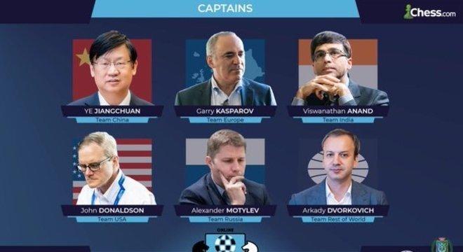Os seis capitães