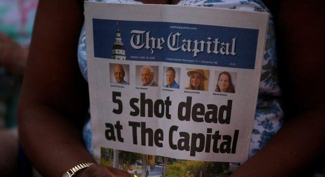 Ataque ao 'Capital Gazette' colocou EUA entre países perigosos para jornalistas