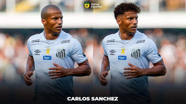 Carecas cabeludos: Carlos Sánchez, meia do Santos