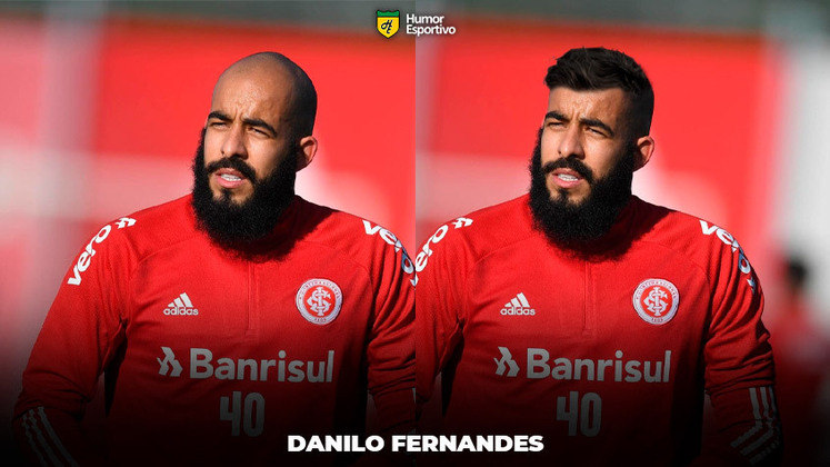 Carecas cabeludos: Danilo Fernandes, goleiro do Internacional emprestado ao Bahia
