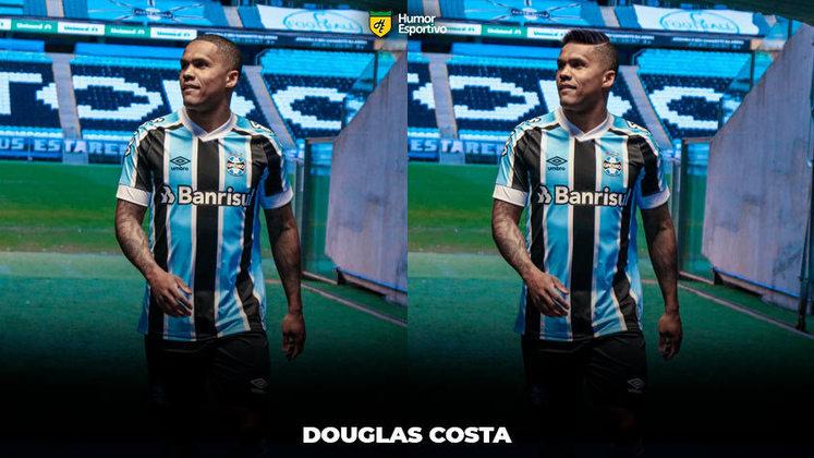 Carecas cabeludos: Douglas Costa, meia-atacante do Grêmio