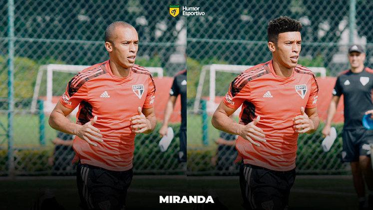 Carecas cabeludos: Miranda, zagueiro do São Paulo