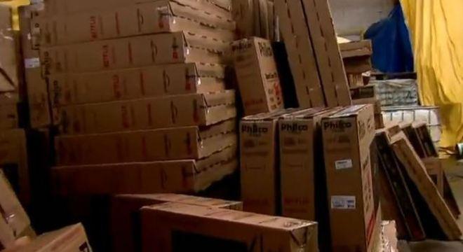 Cerca de mil TVs foram recuperadas e a carga é avaliada em R$ 2 milhões