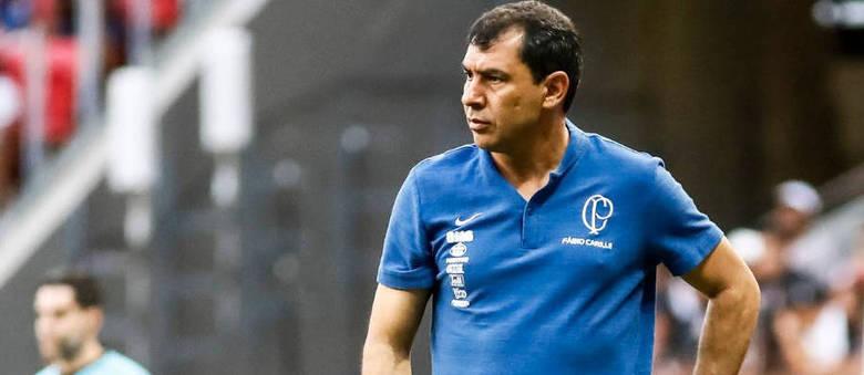 Carille não conseguiu fazer o Corinthians lutar pela vitória. Pior que Cássio