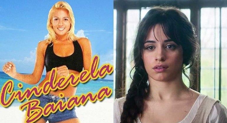 Carla Perez em Cinderela Baiana e Camila Cabello em Cinderela da Amazon