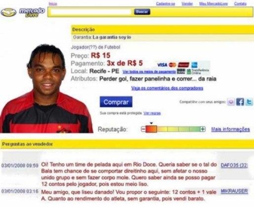 Carlinhos Bala, atacante ex-Sport, foi