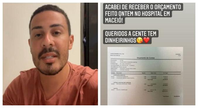 Carlinhos Maia mostrou orçamento da cirurgia em cerca de R$ 195 mil