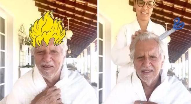 Carlos Alberto de Nóbrega ganhou ajuda da mulher, a médica Renata Domingues