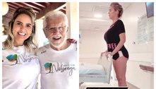 Internada, mulher de Carlos Alberto de Nóbrega faz fisioterapia