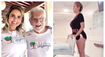 Mulher de Carlos Alberto faz fisio no hospital