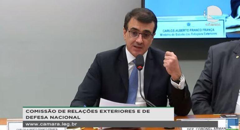 França defendeu gestão ambiental do governo Bolsonaro a senadores
