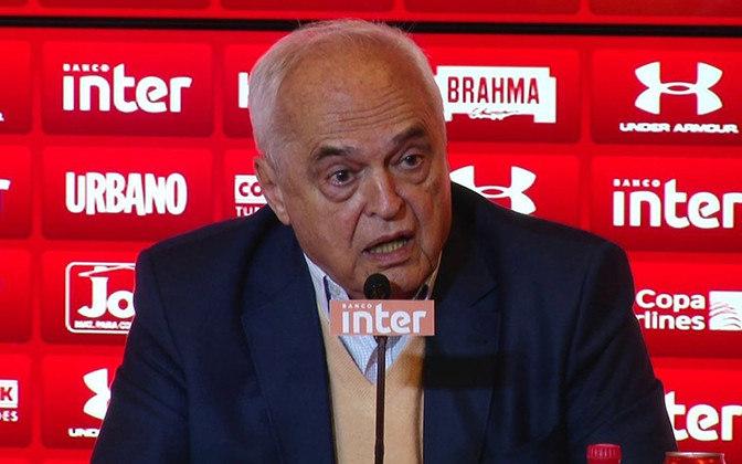 Carlos Augusto de Barros e Silva, o Leco, ficou internado na UTI de 9 até 22 de setembro. O presidente do São Paulo recebeu alta uma semana depois.
