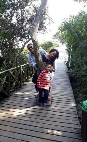 Carlos e a família em Balneário Camboriú, SC