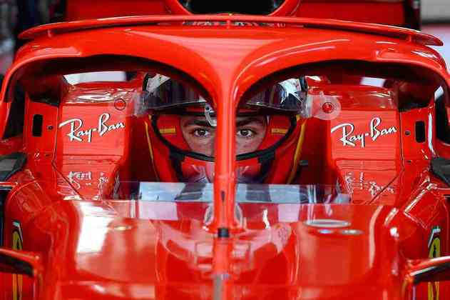 Carlos Sainz a bordo da SF71H