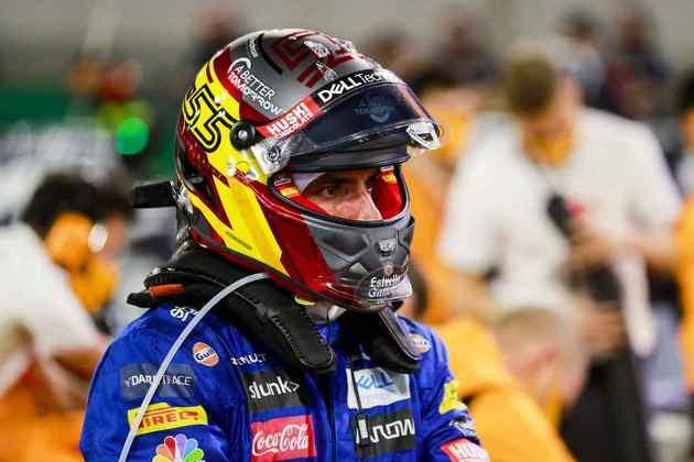 Carlos Sainz, o quarto colocado.
