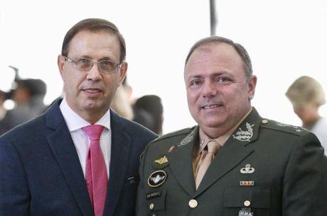 Carlos Wizard com o ministro Eduardo Pazuello