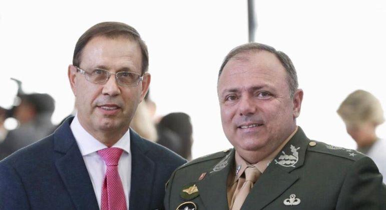 Carlos Wizard com o ex-ministro da Saúde Eduardo Pazuello