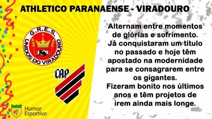 Carnaval e futebol: Athletico Paranaense seria a Viradouro