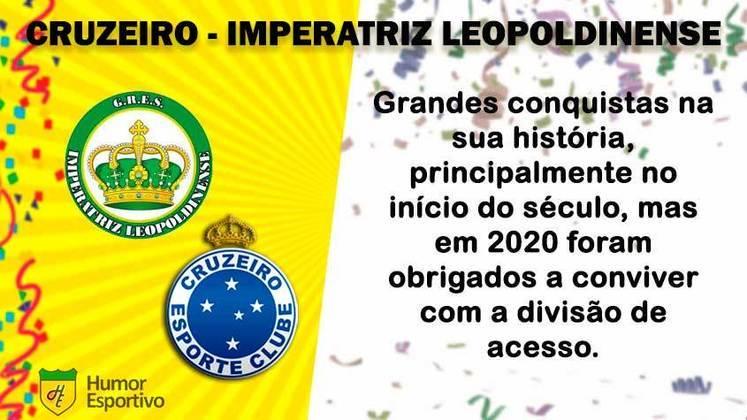 Carnaval e futebol: Cruzeiro seria a Imperatriz Leopoldinense