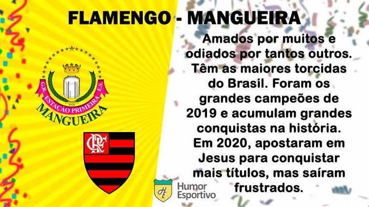 Carnaval e futebol: Flamengo seria a Mangueira