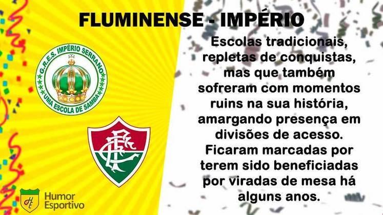 Carnaval e futebol: Fluminense seria o Império Serrano
