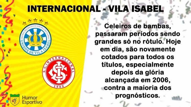 Carnaval e futebol: Internacional seria a Vila Isabel