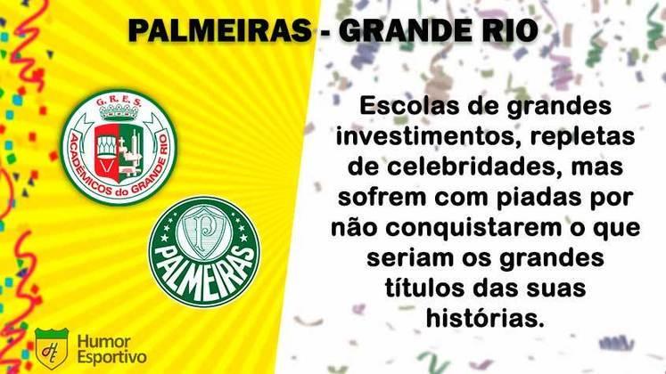 Carnaval e futebol: Palmeiras seria a Grande Rio