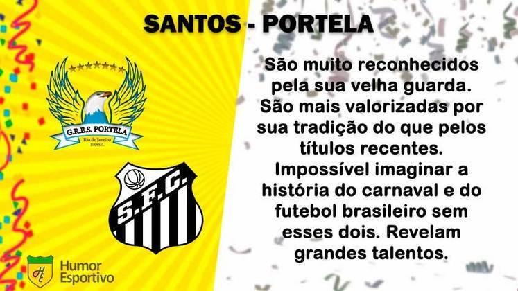 Carnaval e futebol: Santos seria a Portela