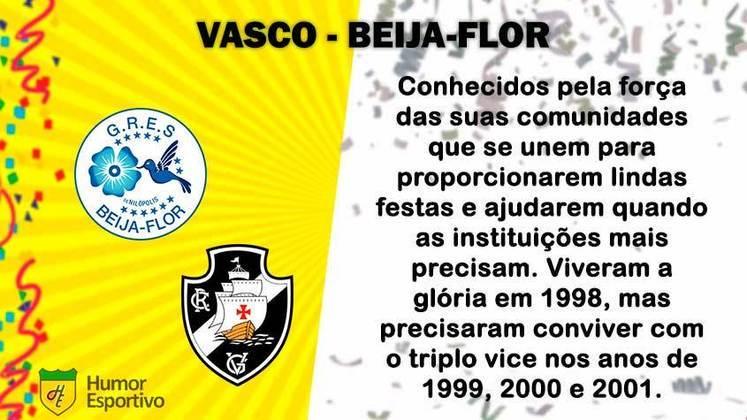 Carnaval e futebol: Vasco seria a Beija-Flor