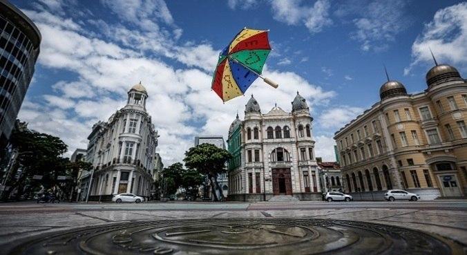 Marco Zero, em Recife (PE), onde Carnaval pernambucano é  comemorado