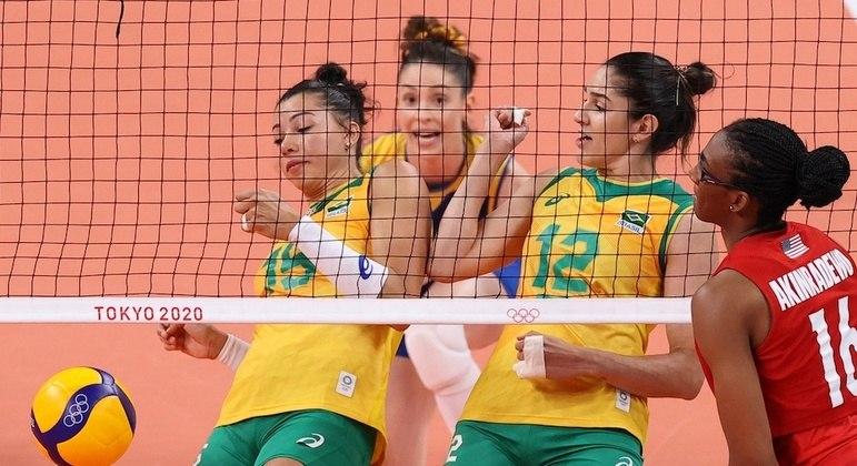 Brasil não teve chances contra a força das norte-americanas na Ariake Arena