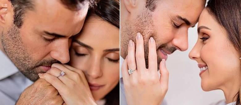 Carol Celico e Eduardo Scarpa estão noivos