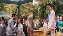 Sem presença de Kaká, Carol Celico e Eduardo Scarpa se casam em SP