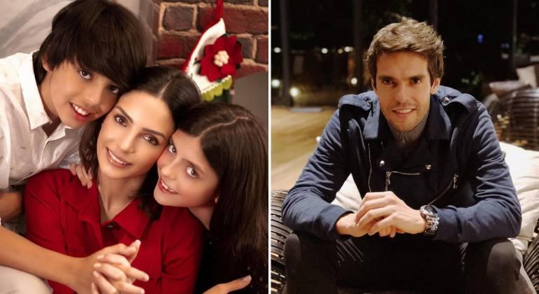 Carol Celico e Kaká são pais de Luca e Isabella