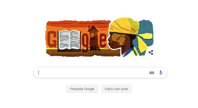 Homenagem do Google à escritora Carolina de Jesus