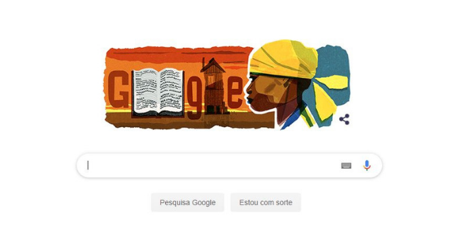 Homenagem do Google à escritora Carolina de Jesus