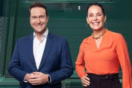 """Eduardo Ribeiro e Carolina Ferraz, apresentadores do """"Domingo Espetacular"""""""