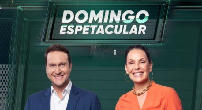 """Eduardo Ribeiro e Carolina Ferraz do """"Domingo Espetacular"""". Programa também bomba no YouTube."""