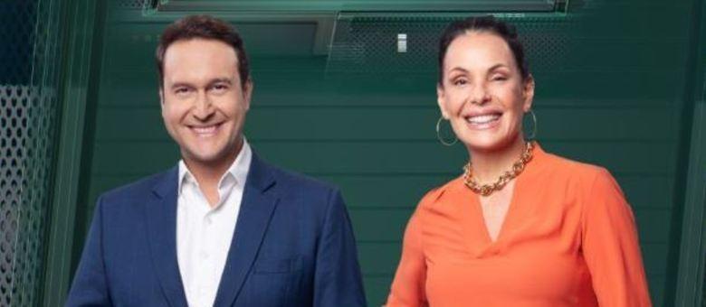 """Eduardo Ribeiro e Carolina Ferrraz, os apresentadores do """"Domingo Espetacular"""""""