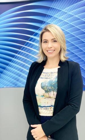 Carolina Magalhães - gerente comercial da TV Clube PE e apresentadora do Mercado Conectado