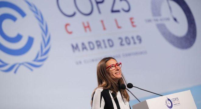 Na foto, Carolina Schmidt, presidente da COP25