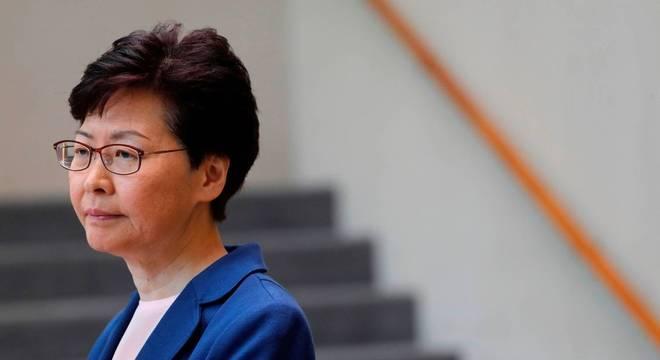A líder executiva de Hong Kong, Carrie Lam