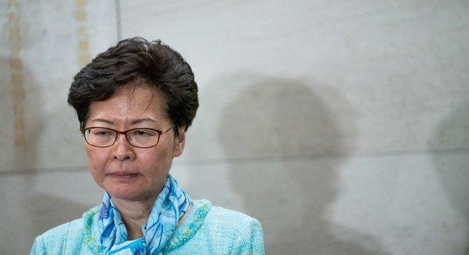 Carrie Lam é, desde 2017, chefe do Executivo em Hong Kong