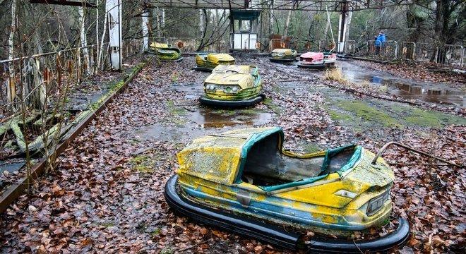 Pripyat, a cidade perto da usina de Chernobyl, é hoje uma cidade fantasma.