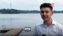 Sem querer, reportagem ao vivo grava o naufrágio de um carrão