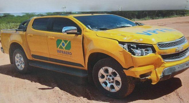Em 2017, ladrões usaram caminhonete clonada no aeroporto de Vitória (ES)
