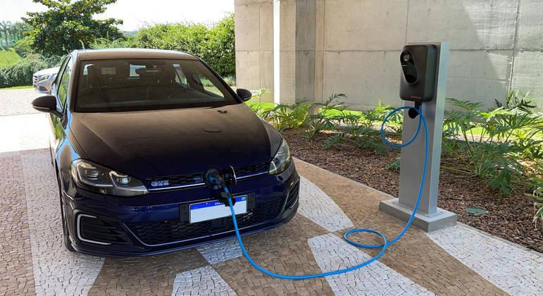 Ponto de recarga da Electricus em um empreendimento