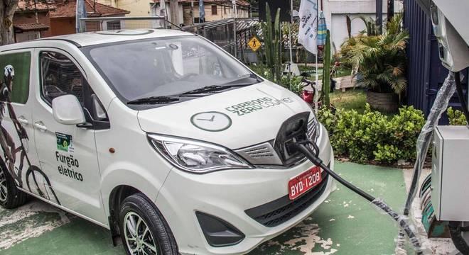 Empresa de Fortaleza (CE) tem 20 carros elétricos, sendo cinco e6 da BYD