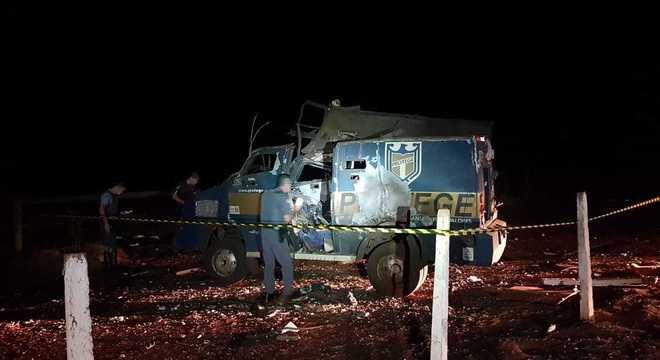 Carro-forte alvo de assalto na Rodovia Anhanguera, nesta segunda-feira (13)